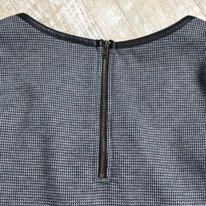 Merona Tops - Merona Top with leather detail -houndstooth
